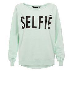 Mint Green Selfie Sweater