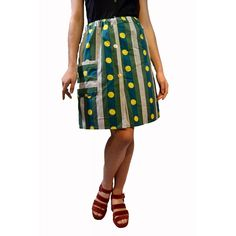 Falda Lunares Verdes 25.00€ Waist Skirt, Midi Skirt, High Waisted Skirt, Skirts, Fashion, Polka Dots, Green, Moda, Skirt