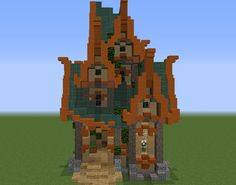 Detailed Fantasy House 5 - GrabCraft - Your number one source for MineCraft buildings, blueprints, tips, ideas, floorplans!