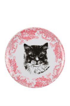 Cat print picnic plate