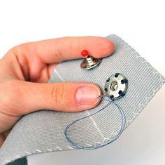 Sewing on snaps. #InconnuLAB #isew #ilovemondays #lovemyjob #etsy #etsyseller #handmade #handmadewithlove