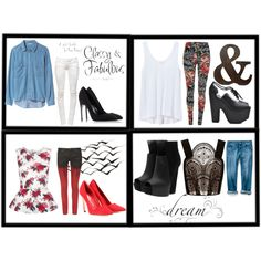 """""""4 options"""" by mitchelle-1707 on Polyvore"""
