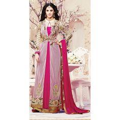 Eid Special Designer Magenta & Cream Party Wear Straight Cut Salwar Suit-RN778ZB(ARTI -538)karishma