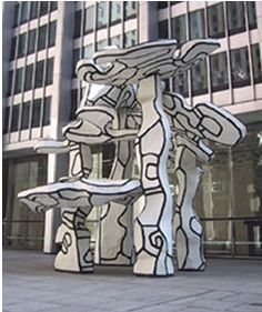 Group of Four Trees, 1969-72, Epoxy Resin, Public Art, Chase Manhattan Bank Plaza, New York City. Jean Dubuffet.