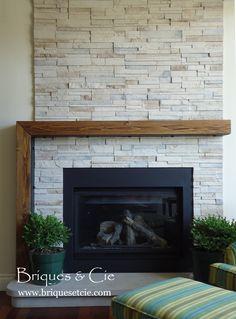 Cultured Stone, fireplace, foyer, pierre naturelle, thin stone veneer, revêtement mural