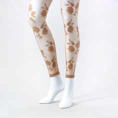 Pitter Patter Patterned Footless Tights  Claire's $2.00