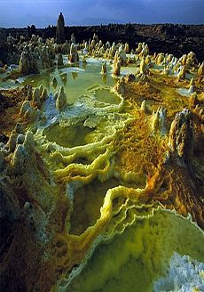 Le cratère du volcan Dallol, en Ethiopie, photo Carsten Peter