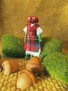 Miniature Christmas Pumpkin Head Doll by FreshProduceDesigns
