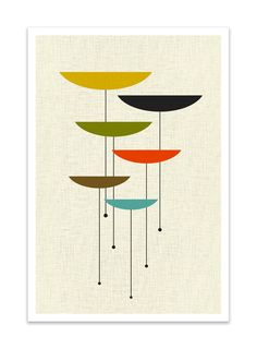 Love these colors for Midcentury Modern interior. FLOAT Giclee Print Mid Century Modern Danish Modern by Thedor Mid Century Art, Mid Century Modern Design, Minimalist Decor, Modern Minimalist, Minimalist Kitchen, Minimalist Living, Minimalist Bedroom, Danish Modern, Mid-century Modern