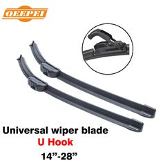 15'' - 28''inch Universal U Hook U-type Frameless Wipers Top Quality Silicone Rubber Blade Soft Car Windshield Windscreen QEEPEI