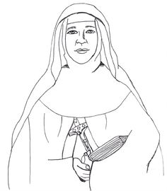 Saint Mary Mackillop Catholic Coloring Page St Mary Of