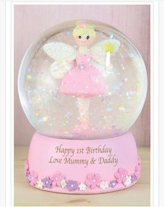 This beautiful Personalised Fairy Any Name Snow Globe is sure to make a smile appear on any little girl s face Personalise this ornamental Fairy Snow Christmas Stocking Fillers, Xmas Gifts, Christmas Ornaments, Personalized Gifts For Kids, Happy 1st Birthdays, Childrens Gifts, Birthday Love, Baby Girl Gifts