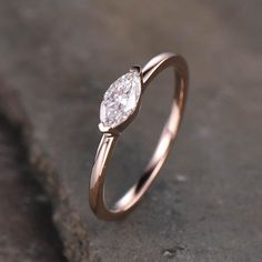 Solitaire Moissanite Engagement Ring Rose Gold Marquise | BBBGEM Charles And Colvard Moissanite, Moissanite Wedding Rings, Anniversary Rings, Custom Jewelry, Wedding Bands, Amethyst, White Gold, Rose Gold, Engagement Rings