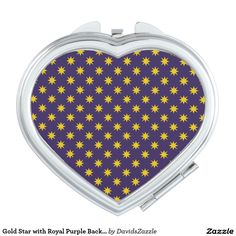 Gold Star with Royal Purple Background Compact Mirror Available on many products! Hit the 'available on' tab near the product description to see them all! Thanks for looking!     @zazzle #art #star #pattern #shop #chic #modern #style #circle #round #fun #neat #cool #buy #sale #shopping #men #women #sweet #awesome #look #accent #fashion #clothes #apparel #tote #bag #accessories #accessory #compact #mirror #hand #purse #clutch #cosmetic #makeup  #purple #gold