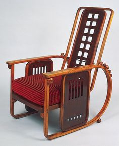 'Sitzmaschine' reclining armchair, model no. 670, Josef Hoffmann 1905