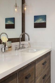 Mill Valley contemporary bathroom--warm modern