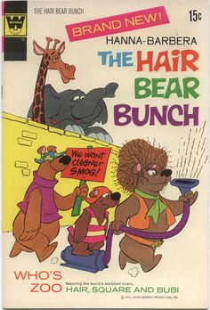 Whitman comics The hair bear bunch