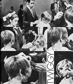 Twiggy's hair 1 ♥ photo by Twiggy Model. Spring Hairstyles, Pixie Hairstyles, Pixie Haircut, Easy Hairstyles, Twiggy Haircut, Celebrity Hairstyles, Haircuts, Twiggy Model, Twiggy Style