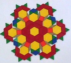 Snowflakes with pattern blocks