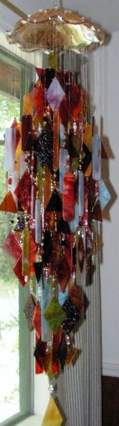"""Autumn Splendor"" Stained Glass Windchime"