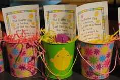 Empty Egg Easter Pails♥ Free printout:) Great to include in your Childrens Easter Goodies♥ Would be an Awesome group project to make & deliver to Nursing Home Residents on Easter♥♡♥ Hoppy Easter, Easter Gift, Easter Party, Easter Bunny, Easter Crafts, Easter Eggs, Easter Ideas, Empty Tomb, Sunday School