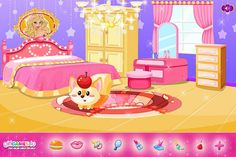 Create the most adorable #princess #room ever! ***  #Game's link: http://www.girlgames4u.com/fairytale-baby-room-decorating-game.html ✿ ✿ ✿