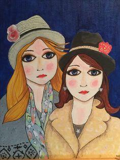 Sisters by Nancy Garner. Acrylic.
