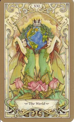 Mystic Faerie Tarot: The World