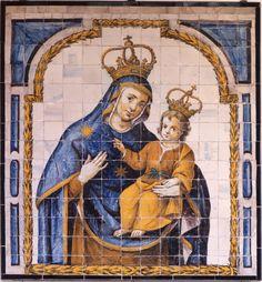 Madonna / Nuestra Señora del Pópulo // Segunda mitad del siglo XVII // Anónimo //  Cerámica // Procedencia: Convento de Nuestra Señora del Pópulo // Museo de Bellas Artes de Sevilla