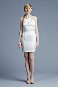 Sculptural, minimal fashion, white dress. Designer: Boska by Eliza Borkowska Look Book A/W 2013/14 Model: Magda Roman Photos: Ewelina Petryka & Krystian Szczęsny Make up: Klaudia Majewska