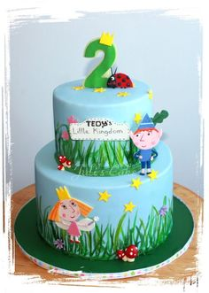ben and holly cake Toddler Birthday Cakes, 5th Birthday Cake, Girl 2nd Birthday, 2nd Birthday Parties, Ben And Holly Party Ideas, Ben And Holly Cake, Ben E Holly, Cute Cakes, Themed Cakes