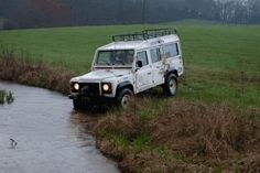 Defender 110 taking a quick dip, via Tumblr Land Rover Off Road, Defender 110, Offroad, Quick Dip, Take That, Journey, Car, Vehicles, Automobile