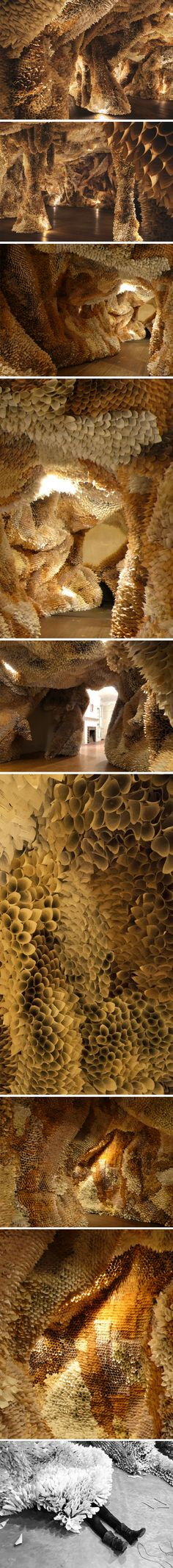 """""""Paper Caves"""" by American artist Samuelle Green"""