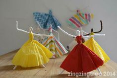 Dancing Pipe Cleaner Princesses #pipecleaner craft