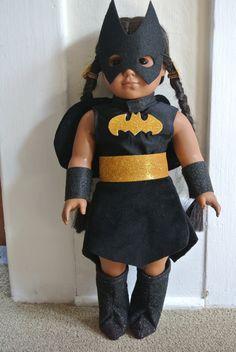 Super Hero costume for 18 doll  Batgirl parody by geiserweaver, $16.95