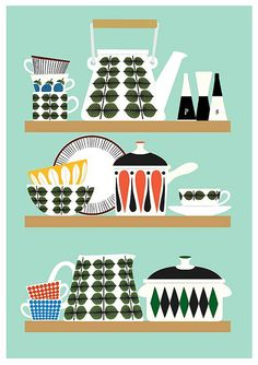 Stig Lindberg Bersa Kitchen Shelf poster print | by Jan Skácelík | Flickr - Fotosharing!