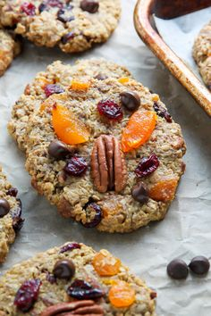 """""""A healthy cranberry oatmeal cookie that actually tastes like a REAL cookie! Get ready to fall in love."""""""