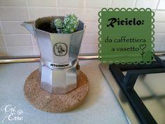 Riciclo: da caffettiera a vasetto #coffee #cactus #recycle