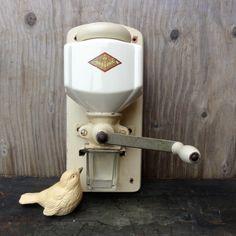 Vintage Coffee Grinder Wall Mount Dutch Creamy by oldamsterdam, $95.00