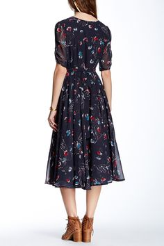Free People - Bonnie Floral Print Dress is now 70-75% off. Free Shipping on orders over $100.