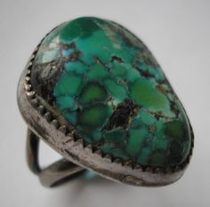 Turquoise Soul  . . .    Navajo Turquoise Ring 1930s