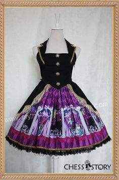 Chess Story Doll Theater Corset Design Lolita Jumper Dress $106.99-Cotton Lolita Dresses - My Lolita Dress