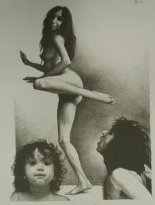 Dansende Kabul Op Tafel van Veldhoen, Aat, 1970