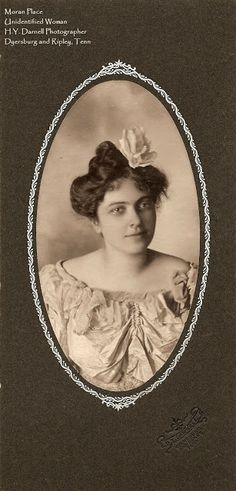 #Vintage #Photography #Tennessee  Unidentified young woman taken by H.Y. Darnell of Dyersburg TN