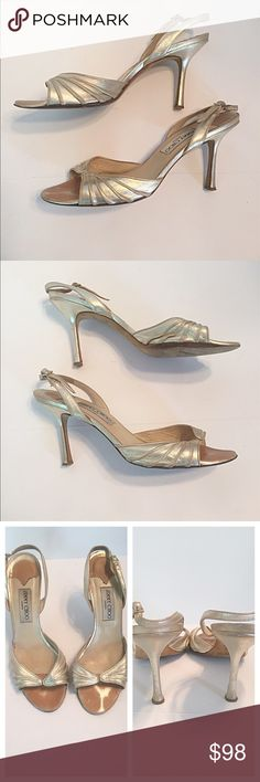 08850715ea8 Jimmy Choo Champagne Gold Slingbacks Bought these used but they are still  in good condition.