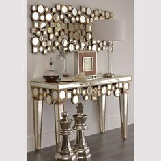 Cheap table furniture, Buy Quality table tennis table set directly from China table lift Suppliers: name: Modern design mirrored furniture vanity table with barcelona chair &n Folding Furniture, Glass Furniture, Furniture Vanity, Mirrored Furniture, Table Furniture, Outdoor Furniture, Mirror Wall Art, Mirrors, Mirror Mirror