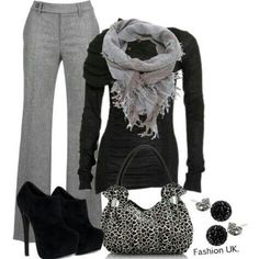 Women's business casual outfit, maybe with a toned down bag and slightly different shoes