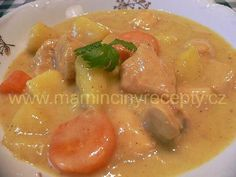 Kari hrnec Thai Red Curry, Meat, Chicken, Ethnic Recipes, Cubs
