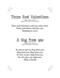 Valentine's Day Songs for PreK to Kindergarten. Little GUYS Valentines Day Songs, Valentine Day Week, Valentine Theme, Valentines For Kids, Valentine Day Crafts, Preschool Poems, Kindergarten Songs, Preschool Music, Songs For Toddlers