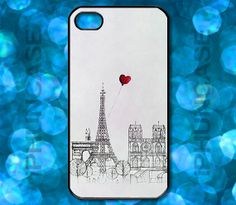 Eiffel Tower Notre Dame Red Heart Balloon Cute Paris by iPhunCase